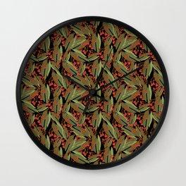 Flowering Gum - Black Wall Clock