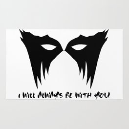 I WILL ALWAYS BE WITH YOU (black) Rug