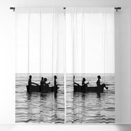 The dinghy and the boat Blackout Curtain