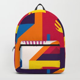 Abstract modern geometric background. Composition 19 Backpack
