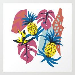 Pineapple Jungle Art Print