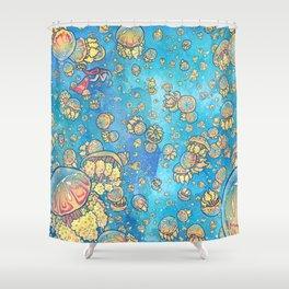 Jellyfish Lake Shower Curtain