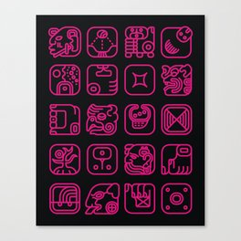 Maya Writing System Canvas Print