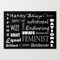 feminist Canvas Prints featuring Feminist  by kraska