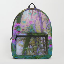 Bright Sunrise with Pink Coneflowers in My Rubio Garden Backpack