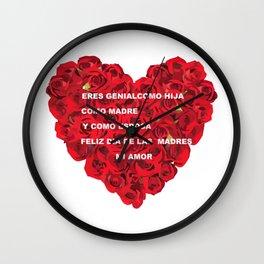 WIFE'S HEART Wall Clock