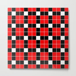 Team Colors 11 red,black and white Metal Print