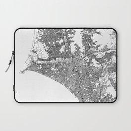 Lima White Map Laptop Sleeve