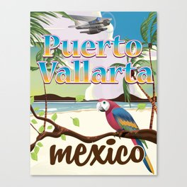Puerto Vallarta Mexico travel poster Canvas Print