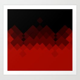 Dragon Ombre Scales Pattern (Red) Art Print