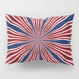 American Flag Kaleidoscope Abstract 1 Pillow Sham