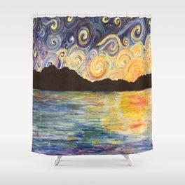 Rajasthan Landscape Shower Curtain