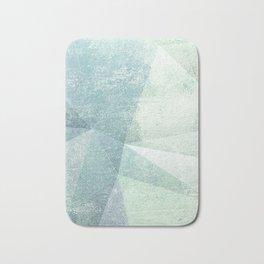 Frozen Geometry - Teal & Turquoise Bath Mat