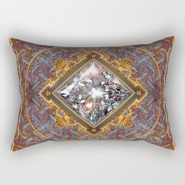 Diamond Cut Steel Rectangular Pillow