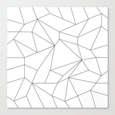 Mountain Grid Gradient Black Canvas Print