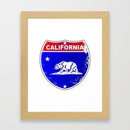 California Interstate Sign Framed Art Print