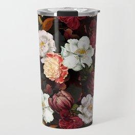 Vintage & Shabby Chic -Midnight Botanical Night Flower Garden  Travel Mug