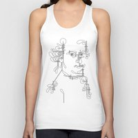 mozart Tank Tops featuring Custom made Mozart by bananabread