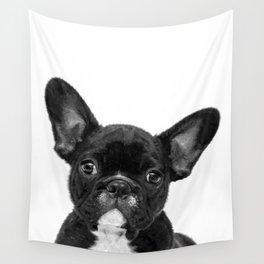 Black and White French Bulldog Wall Tapestry