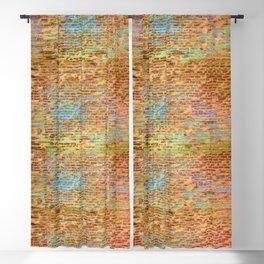 colourful brick wall Blackout Curtain