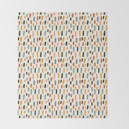 Rainbow Confetti Pattern Throw Blanket