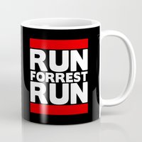 forrest gump Mugs featuring Forrest Gump Run by Spyck