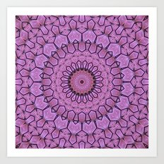 Pink Pattern Mandala Art Print