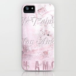 Je t'aime mon Amour iPhone Case