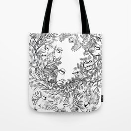 Birds tree botanical pattern Tote Bag