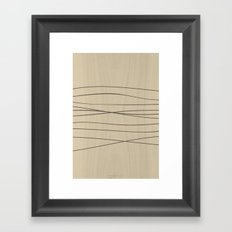 Smooth Stripes Framed Art Print