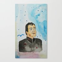 crowley Canvas Prints featuring supernatural crowley by meldemirci