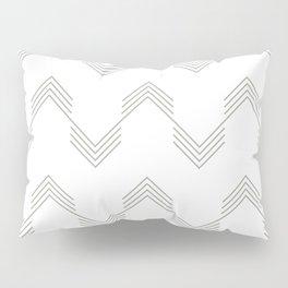 Simply Deconstructed Chevron Retro Gray on White Pillow Sham