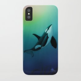 """The Dreamer Ascends"" by artist Amber Marine ~ (Copyright 2015) ~ Orca / Killer Whale Art iPhone Case"