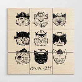 Ocean Cats Wood Wall Art
