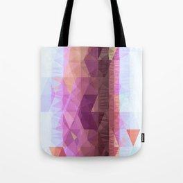 Lavender Purple Abstract Geometric Triangle Polyglen Wallart Illustration Tote Bag