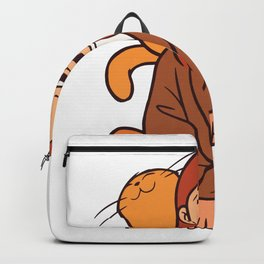 Cat and Girl Backpack