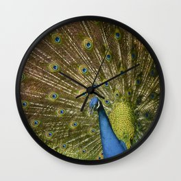 Peacock. Wall Clock