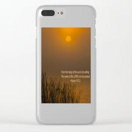 Psalm 113:3 Sunrise Clear iPhone Case