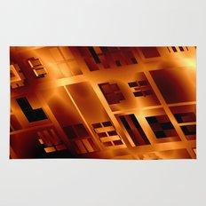 Abstract 379 Orange Geometric Windows Rug