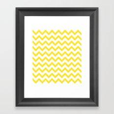 funky chevron yellow pattern Framed Art Print