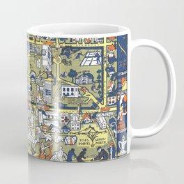 TEXAS University map DENTON dorm decor Coffee Mug