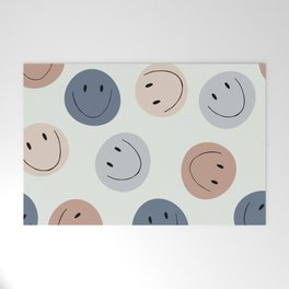 Smiley faces Welcome Mat