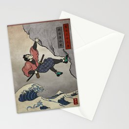 Rock Climbing Samurai Deep Water Soloing Stationery Cards