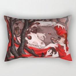 Seeing Red Rectangular Pillow
