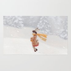 Snow storm Rug