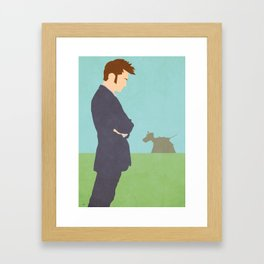 10th and his K9 Framed Art Print