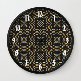 Gold and Silver Interwoven Pattern Wall Clock
