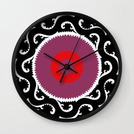 suzani pattern Wall Clock