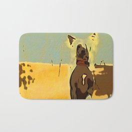 Chinese crested 4 Bath Mat