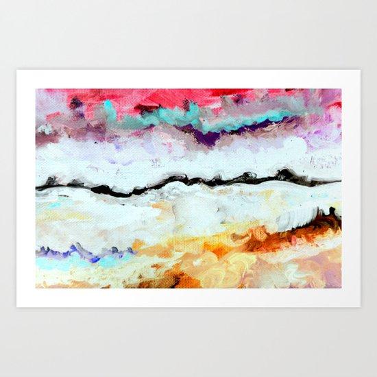 Agitation Inverted Art Print